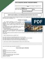 Avaliação BIMESTRAL ENS. RELIGIOSO - 2020