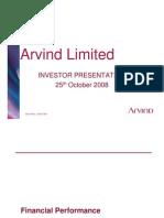 Arvind Mills Investor Present a Ti Ion
