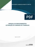MANUAL DE PROCEDIMENTOS ALTERAÇÃO DE JORNADA DE TRABALHO