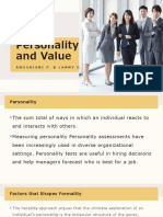 Personality and Value (Chapter 5)