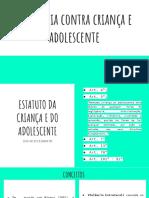 Violência Contra Criança e Adolescente