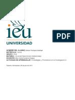 Actividad de Aprendizaje 1. Estratégias y Pronósticos en la Investigación de Operaciones