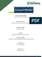 2.1 Política Educativa, Tendencias Salcedo_Soraida