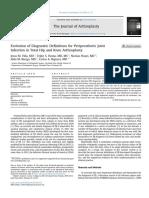 Evolución en las definiciones de diagnóstico para la infección de la articulación periprotésica en la ATC y ATR