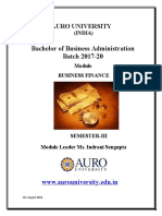 Module Handbook Business Finance