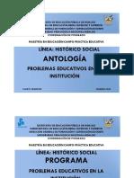 ANTOLOGÍA HISTORICO SOCIAL CUARTO SEMESTRE 2018-2020