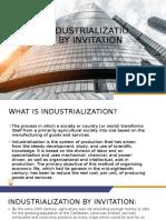 Industrialization by invitation powerpoint presentation