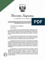 Decreto Supremo PCM COVID