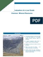 Mine Design for a Uranium Resource