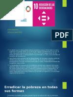 ODS 10 REDUCCION DE LAS DESIGUALDADES