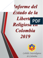 Informe Del Estado de La Libertad Religiosa en Colombia 2019