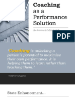 Coaching as a Performance Solution#1