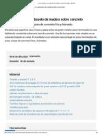Cómo Instalar Un Subsuelo de Madera Sobre Hormigón _ RONA