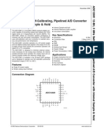 12-Bit, 5 MHz Calibrating, Pipelined AD Converter
