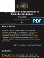 Leveraging Cloud Transformation to Build a DevOps Culture  AWS Public Sector Summit 2016