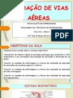 AULA 2 - FUNDAMENTOS TECNICOS - ASPIRAÇÃO DE VIAS AÉREAS UNIC 2016-2