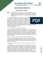Orden de Interior publicada en el BOE