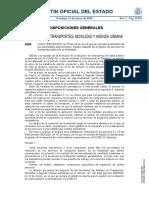 Medidas del Ministerio de Transportes, Movilidad y Agenda Urbana durante el estado de alarma