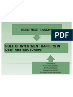 Role of Investment Bankers in Debt Restructuring