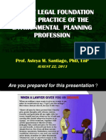The New Legal Foundation of the Practice of the Environmental Planning Profession