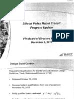 VTA BART SJX Program Update Dec 2010