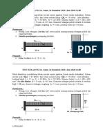 Contoh soal Diploma Teknik Sipil  Test soal & Jawab Disain Balok
