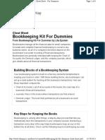 Bookkeeping Kit Cheat Sheet