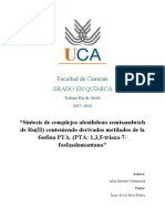 """""""Síntesis de complejos alenilideno semisandwich de Ru(II) conteniendo derivados metilados de la  fosfina PTA. (PTA"""