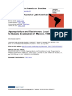 CUETO, M. (2005). Appropriation and Resistance Local Responses to Malaria Eradication in Mexico, 1955–1970