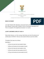 SA on 62 coronavirus cases, Gauteng hardest hit