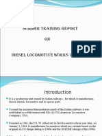 Summer Training Diesel Locomotive Works Ppt