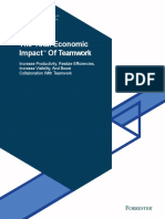 The Total Economic Impact of Teamwork Projects
