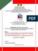 Audit Externe Des Institutions de Microfinance