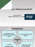 Tutor imun HBsAg Kuantitatif