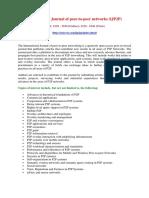 International Journal of peer-to-peer networks (IJP2P)