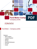 Ford Motor Sample Profile Vision Wise Consulting March 2009