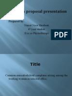 21 Proposal presentation Shraboni