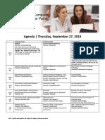 Event Agenda (Update 17Sep18)