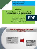 Foro-Frente UniversitarioAnti-ImperialistaJesús Delgado-2019.ppt