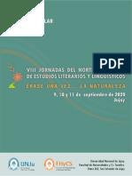 Primera circular - VIII Jornadas del Norte argentino 2020-REDES