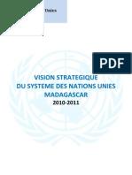 Vision Stratégique du Système des Nations Unies à Madagascar