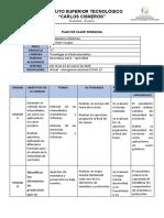 PLAN DE CLASE SEMANAL INSTALACIONES ELECTRICAS