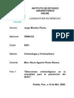FORO 1, DIRECCIONES CRIMINOLÓGICAS EN LA ACTUALIDAD PARA LA PREVENCIÓN DEL DELITO 12 MAR. 2020