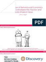 The Application of Behavioural Economics to Impact Controllable Risk Factors