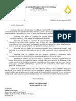 Ofício do vice-presidente da CLDF, Rodrigo Delmasso, ao governador do DF, Ibaneis Rocha