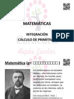 Matemáticas. Integración. Cálculo de primitivas.pptx