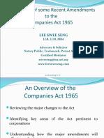 Amendments Toc a 1965