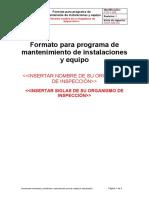 FOR-T-008 Formato para programa de mantenimiento de instalaciones y equipo