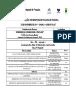 Programação XVII Simpósio Integrado de Pesquisa_2019