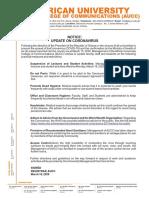 Aucc Covid-19 Press Release